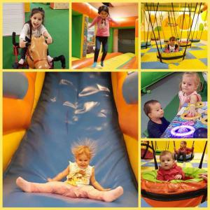 Autumn holiday in the indoor playground